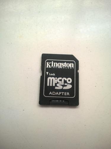 Imagen 1 de 4 de Adaptador Kingston Grande  Micro Sd  No Incluye  Memoria