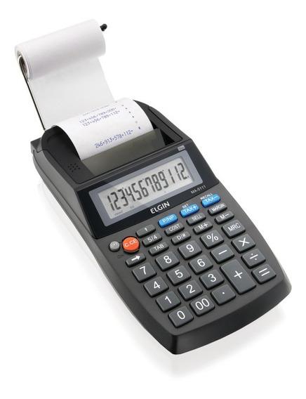 Calculadora De Mesa Com Bobina 12 Dígitos Ma5111 Elgin
