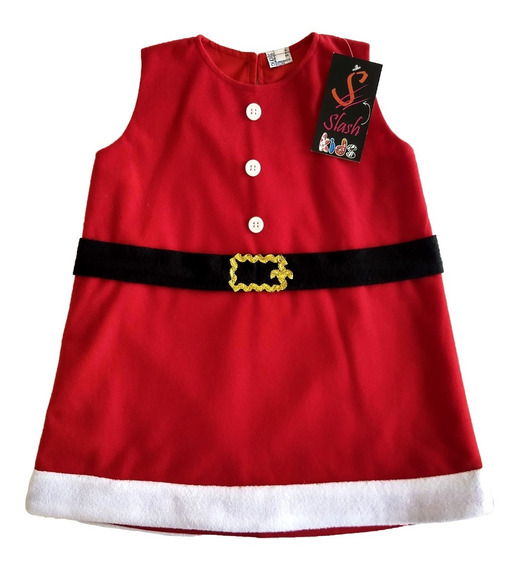 Vestido Papa Noel Santa Claus Forrado Navidad Noche Buena