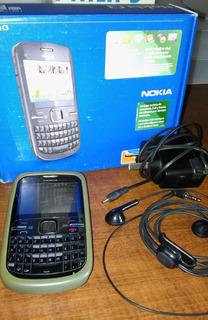 Celular Nokia C3 - Para Personal Impecable + Manos Libres