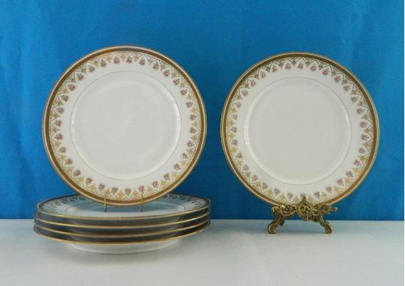 Juego 6 Platos Llanos Porcelana Limoges W G Bazar Colon