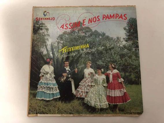 Lp Vinil Disco Antigo Teixeirinha - Assim É Nos Pampas