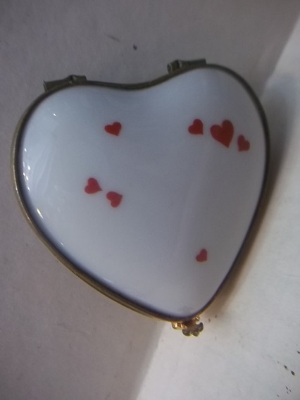 Antigua Cajita Corazon De Porcelana Limoges Bernardaud