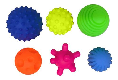Set 6 Pelotas Sensoriales Didácticas Para Bebé Con Texturas