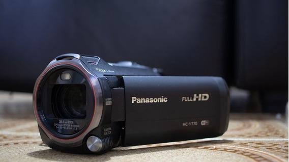 Filmadora Panasonic Hc-v770k Com Bateria De Longa Duração