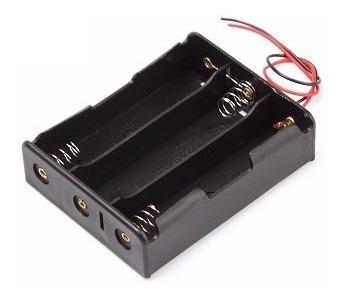 2pçs Case Suporte Para Bateria 18650 P/ 3 Baterias - Cod.49