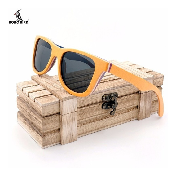 Óculos De Sol De Madeira Artesanal Bobo Bird Ag012