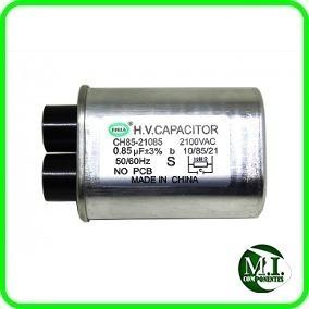 Capacitor Alta Tensão Para Forno Microondas 0,85uf 2100v Com 4 Terminais Fino 2+2 + 1 Diodo Simples + 1 Fusível 20 Amp