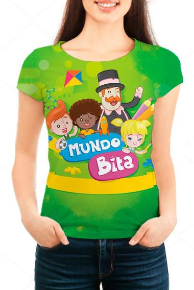 Camiseta Babylook Feminina O Mundo De Bita - Mn01