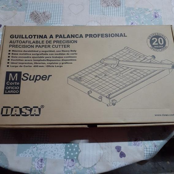 Guillotina Profesional Dasa M Súper. 20 Hojas. Sin Uso