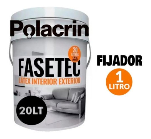 Kit Latex Blanco 20 Litros Interior Exterior Fijador 1 Tioso
