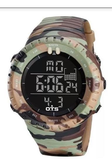 Relógio Masculino Camuflado Ots Militar Envio Imediato
