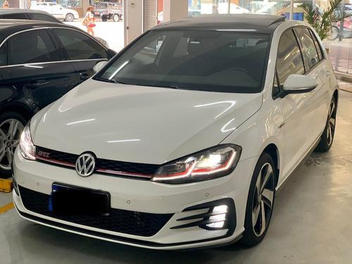 Volkswagen Golf Gti 2019 Connect + Cuero 8500kms Blanco