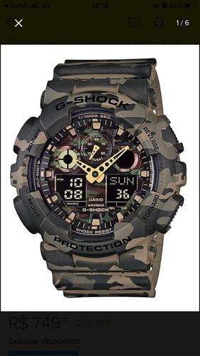 O Relógio G-shock Analógico Ga-100cf Original