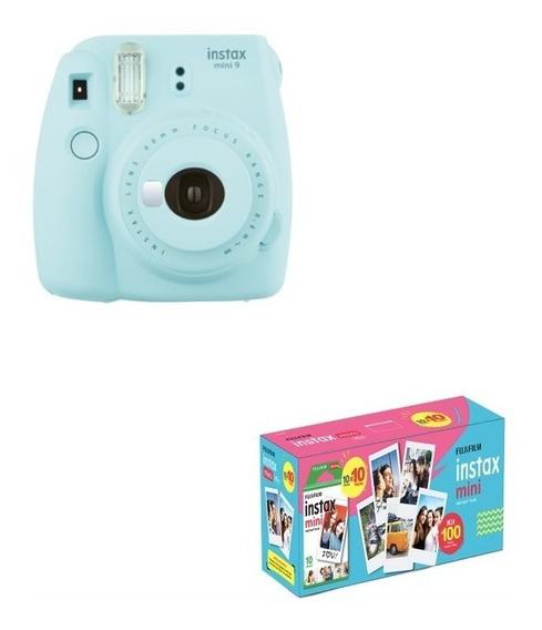 Kit Câmera Instantânea Instax Mini 9 Azul 100 Poses