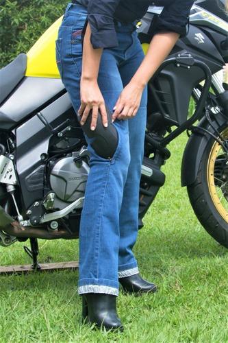 Pantalon Jeans De Moto Hombre Y Mujer Con 4 Protecciones