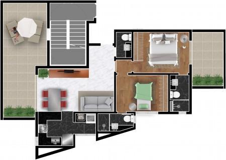 Imagem 1 de 4 de Apartamento Com Área Privativa À Venda, 2 Quartos, 2 Suítes, 2 Vagas, São Pedro - Belo Horizonte/mg - 2358