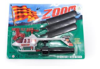 Helicóptero De Juguete Con Lanzador Juego Regalo Niños