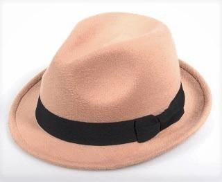 Chapéu Fedora Clássico Feltro Lã Aba Curta Várias Cores