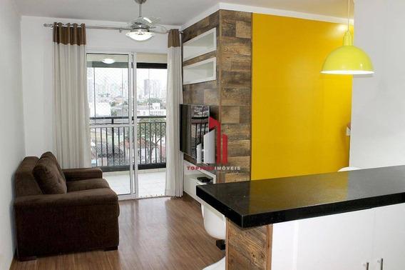 Apartamento Com 2 Dormitórios À Venda, 58 M² Por R$ 455.000 - Barra Funda - São Paulo/sp - Ap0106