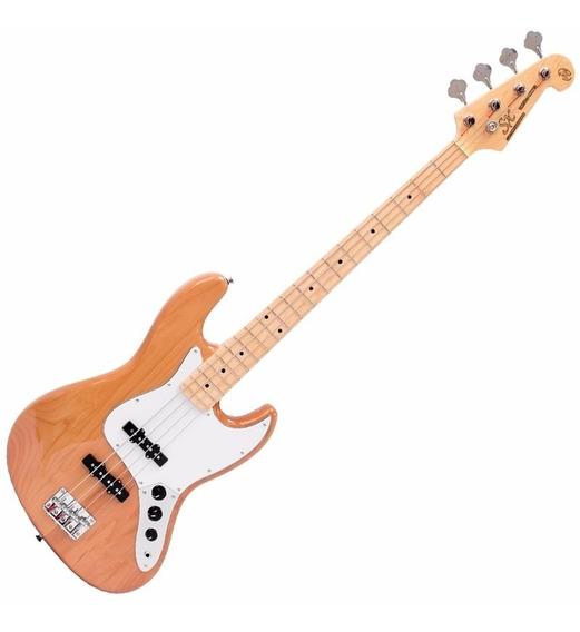 Contra Baixo Sx Vintage Jazz Bass Sjb Alder Natural 4 Cordas