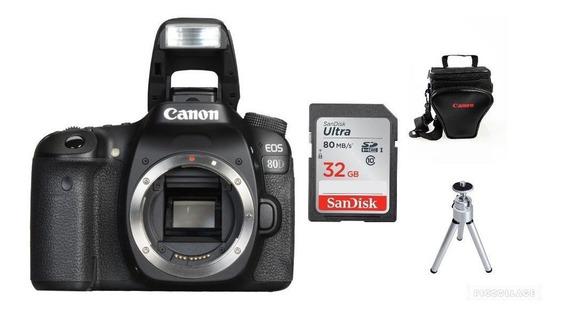 Câmera Eos 80d (somente Corpo)+32gb+bolsa+tripé