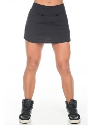 Shorts Saia Suplex Plus Size Cós Alto Lisas E Estampadas