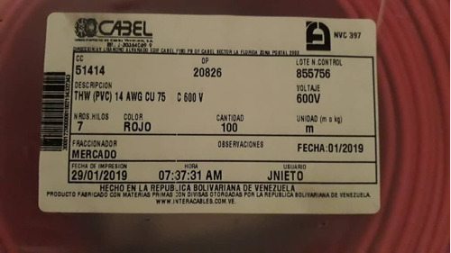 Cable #14 Cabel Thw