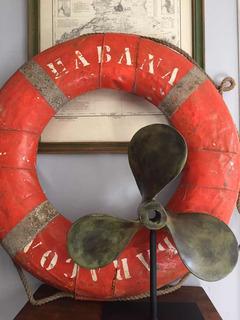 Salvavidas De Barco Vintage Decoración Marítima Náutica