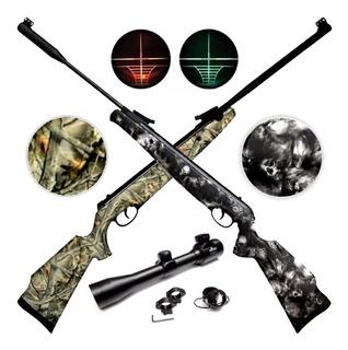 Rifle Aire Comprimido Nitro Piston 500 550 Caza + Mira Luz