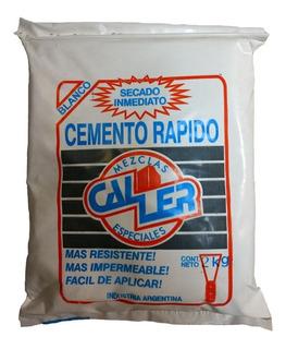 Cemento Rápido Blanco 2 Kilos Caller Secado Inmediato Mm