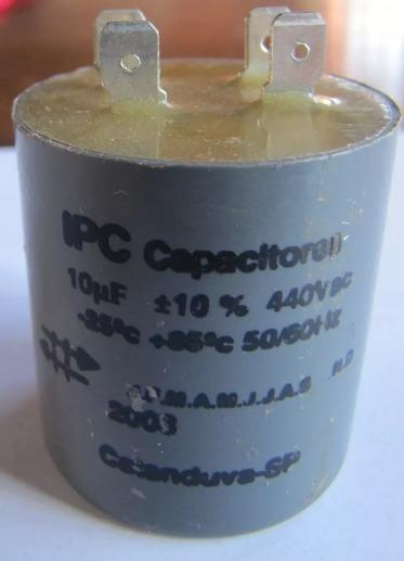 Capacitor Partida 10uf 440vac P/ Diversos Motores Ipc