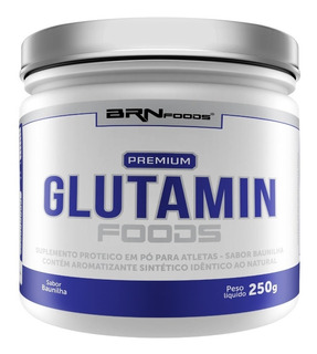 Premium Glutamina 250g Baunilha - Brn Foods - S/ Juros!