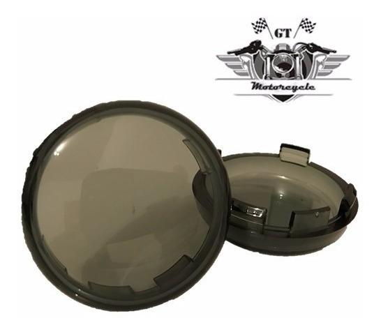 Par De Lentes Do Pisca Fumê Seta Harley Davidson Sportster
