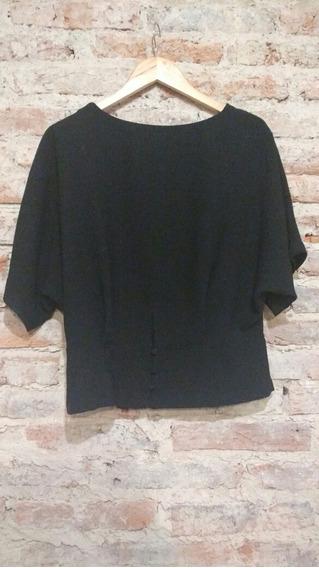 Remera De Vestir Marca Zara Negra