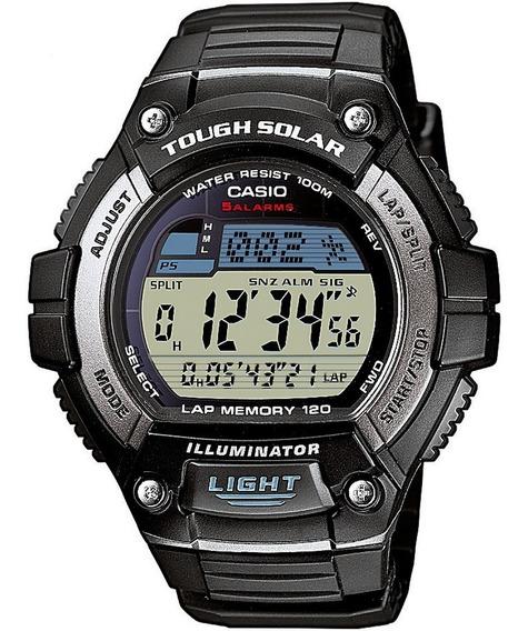 Relógio Casio W-s220-1avdf Padrão Bateria Solar Hora Mundial