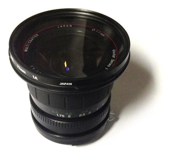Objetiva Vivitar Series 1 S&k F/3.5-4.5 19-35mm Multicoated