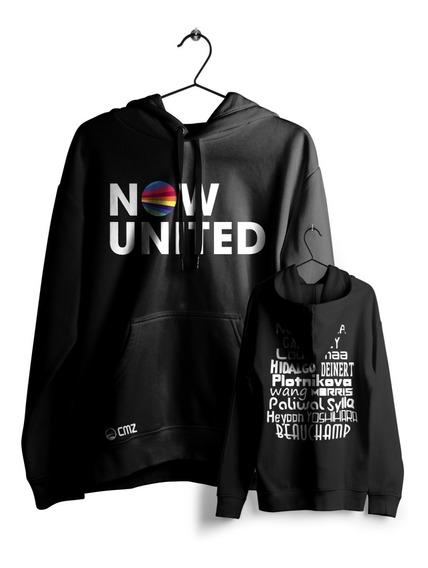 Moletom Now United Todos Integrantes Pop Blusa Casaco Cmz