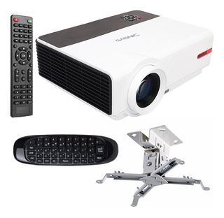 Proyector 5500 Lumens Pro 2 Usb 1080p 200 Sintonizador Tv