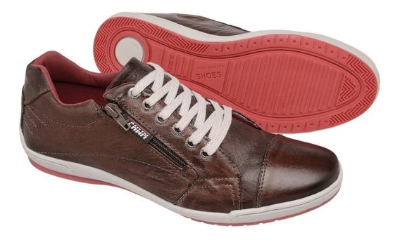 Kit 2 Sapatênis Masculino Couro Promoção Tchwm Shoes 2 Pares