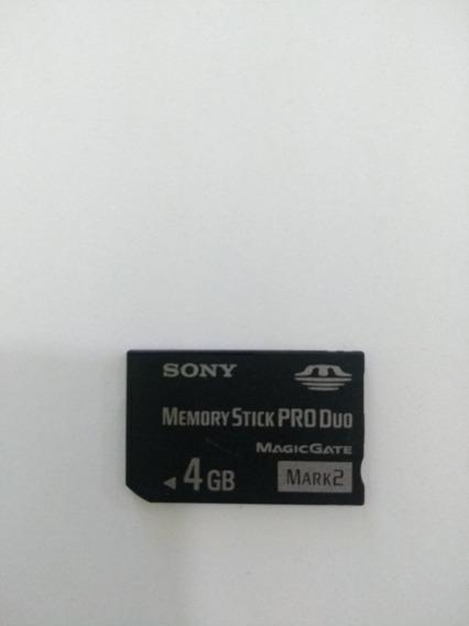 Cartão De Memoria Sony Stickpro Duo 4 Gb