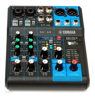 Yamaha Mg06x - Mezclador 6 Canales Efectos Audio Consola