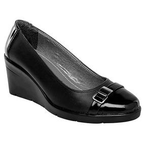 Zapatos Plataforma Casual Dama Negro Zoe Piel Udt 59908