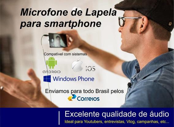 Microfone Lapela Para iPhone 5 / 6 / 7 Envio Imediato