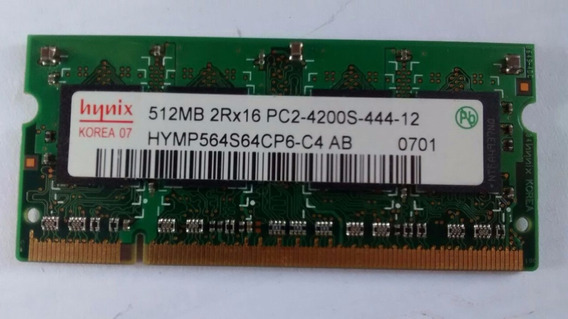 Memoria Ddr2 Notebook 512mb 2rx16 Pc2-4200-444-12 / 6690