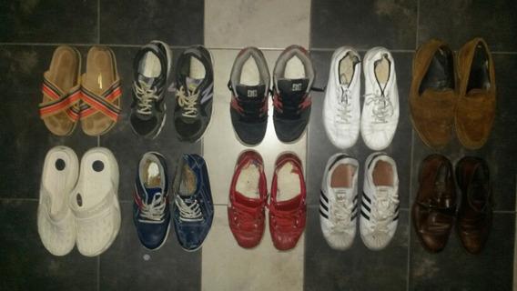 Gran Lote De Zapatillas Zapatos Hombre Y Mujer Bolso Regalo