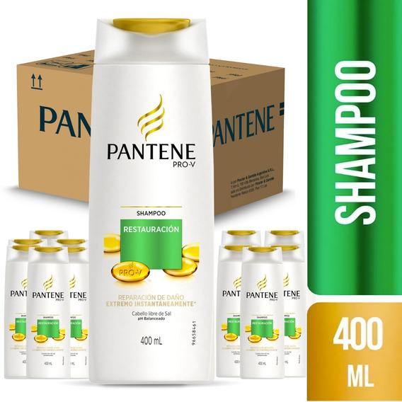 Pack De 12 Shampoo Pantene Pro-v Restauración 400 Ml
