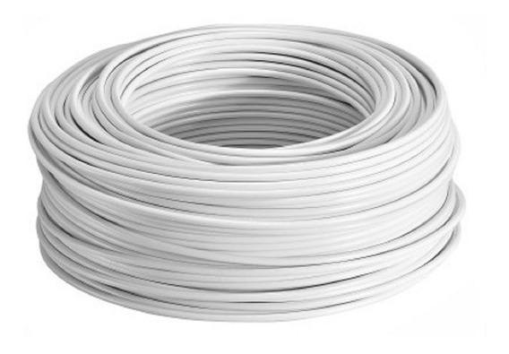 Rollo Cable Eléctrico Cal 10 Thw 100 Metros Blanco Regalalo