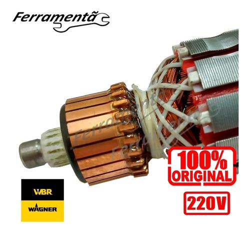 Imagem 1 de 4 de Induzido Rotor Lixadeira Parede Wbr 750 Original Novo 220v