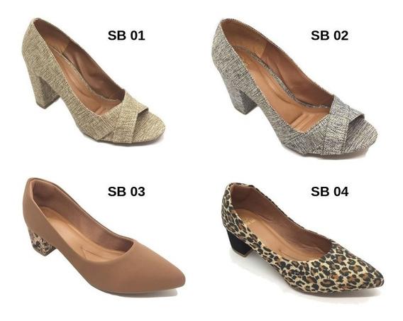 Kit C/6 Sapatos No Atacado Grade Fechada